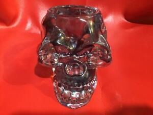 Crystal Skull  ( Heavy Glass ) Skull Shaped Candle Holder - Halloween - Ceremony