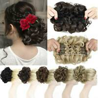 Large Scrunchie Messy Bun Hair Piece THICK Updo Cover Clip In Bun Feel Real