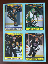 1990-91 O PEE CHEE BOX BOTTOM PANEL Wayne GRETZKY Coffey Casey Mogilny