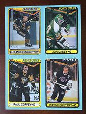 1990-91 O PEE CHEE BOX BOTTOM PANEL Wayne GRETZKY Coffey Casey Mogilny