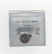 **1972**, Coin Mart Graded Canadian,  10  Cent, **MS-65**