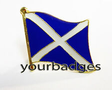 Gold colour Metal Scotland Flag lapel Pin Badge Saint Andrew Scottish Flag