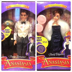"Paris Romance Dimitri Doll Paris Elegance Anastasia Doll Galoob Lot 2 VG"""