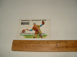 1965 Cleveland Indians baseball schedule, First National Bank, Akron, Ohio