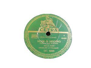 78 RPM Nilla Pizzi Morir Di Desire Will Be The Sole Zither Dc 5800 1953