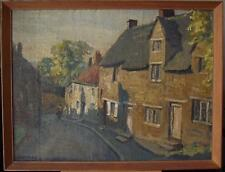 Wollaston Village Northampton Oil Painting George Herbert Buckingham Holland 30s