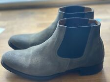 N.D.C Made By Hand Ankle Boots Leather Women Grey Size 39 UK6, Pre Owned