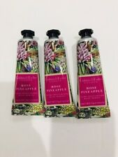 Crabtree Evelyn Rose Pineapple Hand Therapy 0.9 Oz Lot Of 3