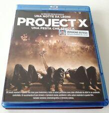 PROJECT X UNA FESTA CHE SPACCA (VERSIONE ESTESA) FILM BLU-RAY BD OTTIMO ITA