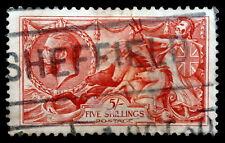 GB - 1913 : King George V - 5sh rose carmine , Perf 11x12, Scott# 174