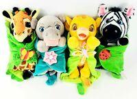 Disney parks babies plush lot set Lion King Simba Animal Kingdom Blanket Hippo