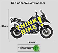 Think bike safety awareness vinyle autocollant decal-BMW1200GS adventure-prn 1023