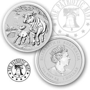 2021 Lunar Year of The Ox Australia 1 oz Silver Coin Brilliant Uncirculated