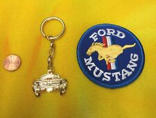 FORD MUSTANG KEYCHAIN & PATCH - VINTAGE ORIGINAL 1964 1965 1966 1967 1968 1969