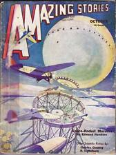 Pulp AMAZING STORIES October 1932 - Edmond Hamilton - Clark Ashton Smith letter