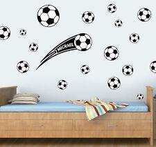Personalizzata Calcio Pacco di 20 Nero Adesivo Parete easypeel & Stick FC UTD BALL