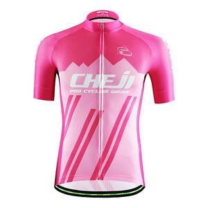 CHEJI Men/'s Bike Clothes Top Reflective MTB Biking Cycling Jersey Shirts S-XXXL