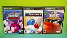 Brunswick Pro Bowling, Strike Force, AMF Xtreme PS2 PlayStation 2 - 3 Game Lot