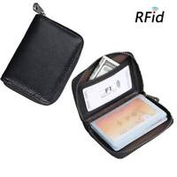 Unisex RFID Genuine Leather Multi-Function Card Holder Purse with 20Card Slot UK