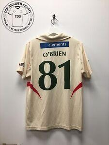 Niall O'Brien Match Worn Signed Leicestershire CCC Cricket Shirt Men's Medium