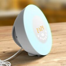 FITFORT Alarm Clock Wake Up Light-Sunrise/Sunset Simulation Table Bedside Lamp