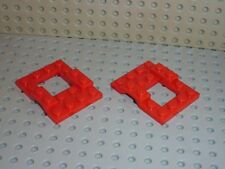 2 x LEGO Car Base Red 4 x 5 Réf 4211 Set 6366/6480/6556/6688/6382/6651/6362/6650