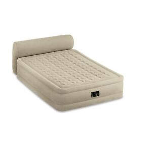Intex Dura Beam Deluxe Raised Blow Up Mattress Air Bed with Built In Pump, Queen