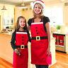 Apron Christmas Kitchen Aprons Cooking Bib Women Santa Men Xmas Party Claus New
