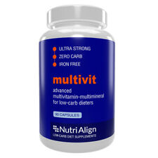 Nutri-Align Multivit for Keto and Atkins Diet. 100% Zero-Carb. 90 Capsules.