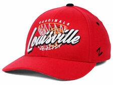 Louisville Cardinals NCAA Swish Hoops Basketball Red Fashion Fitted Hat Cap L KY