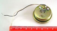 Buzzer 6Vdc (3-12Vdc) Metal Cased Loud Very Shrill 10cm leads MBA014A