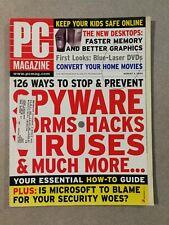 PC Magazine August 3, 2004 - Spyware Worms Hacks Viruses - New Desktops