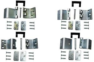 Door Hinge Side Loading Door Lower Upper Left Right Set of 4