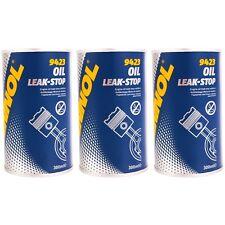MANNOL Motordichmittel 3x300 mL Oil Leak-Stop Öl Additiv verringert Ölverbrauch