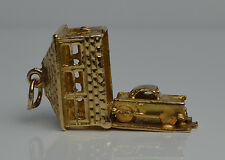 Vintage 9ct Gold Car Garage Moveable Charm 4g