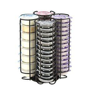 Tassimo Pod Holder - 52 Pod Holder - Rotating Wire Rack - Metal Black