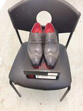 Jeffrey West Mens Brogue Slip On Shoes Size 8 Ash