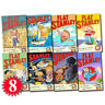 Flat Stanley Adventure Series Collection 8 Books Set (Again, Invisible, & more)