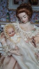 Dollhouse Miniature Artisan Jo Anne Roberts Porcelain Doll Mother Child Baby