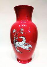 Art Deco Crown Devon Fielding Red Pegasus China Vase