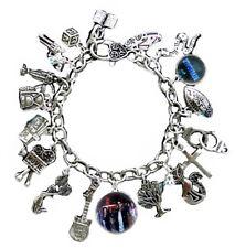 Riverdale TV Show Theme Glass Dome and Silvertone Charm Bracelet