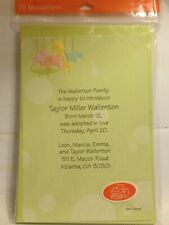 Charming Diy Hallmark Baby Announcements / Shower Invitations - 10 cards w/ envs