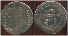 FRANCE  FRANCIA  5 centimes AN 8 BB  ( 1 )
