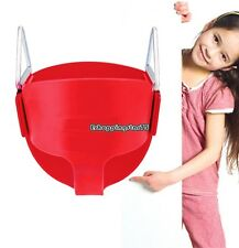 BUCKET SWING for Toddler SEAT RED Playground Outdoors Children Play Fun