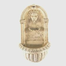 Lion Head Wall Water Fountain Garden Decor - New
