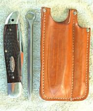 Vintage CASE XX Knife-Mariner Set-6265 SAB  Folding Hunter+Marlin Spike & Sheath