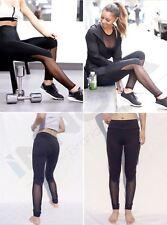 Le donne Yoga Sport Running Pantaloni Leggings Elasticizzato Pantaloni Fitness Palestra Abbigliamento