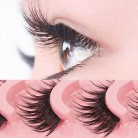 5Pairs Natural Long Fake Eye Lashes Extension Thick False Eyelashes Handmade s