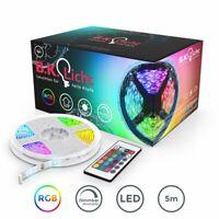 LED Stripes Band wasserdicht IP44 RGB Streifen Lichter-Kette 230V Lichtleiste 5m