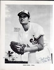 Eddie Fisher EXPOS SIGNED 8-1/2 x 11 AUTOGRAPH B&W PICTURE PACK PHOTO AUTO COA 3